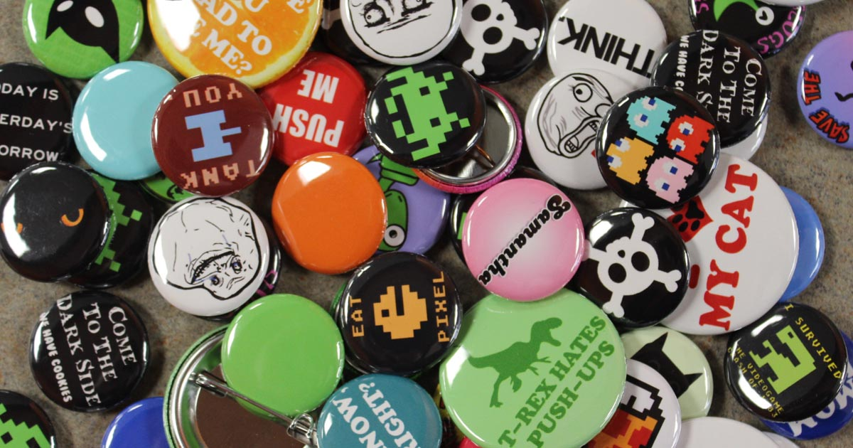 Wacky Buttons Bring Your Event to Life