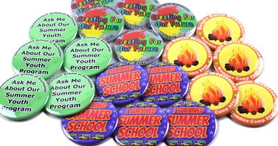 Custom Buttons for Summer Camps and Youth Programs