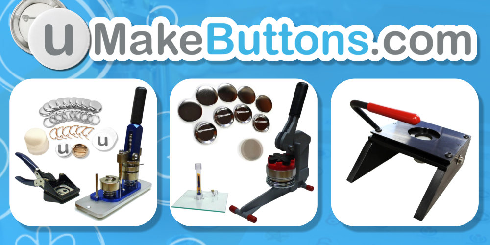 Make your own Buttons, Button Machines, Presses, Button Supplies - www.umakebuttons.com