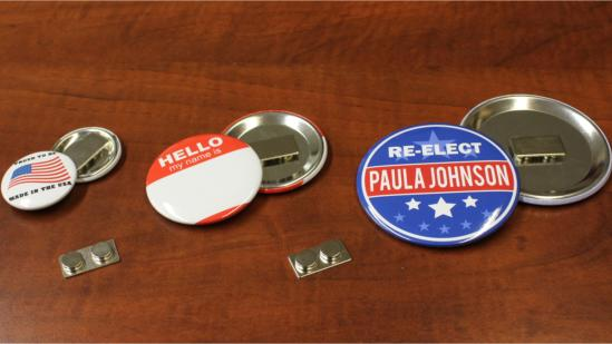 clothing/shirt magnet buttons - detachable magnet nametag id badges
