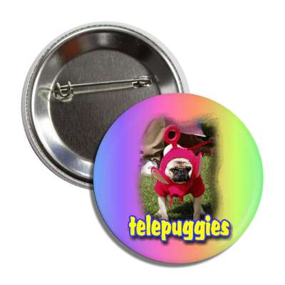telepuggies alien costume teletubbies kid child adorable pug dog puppy love cute