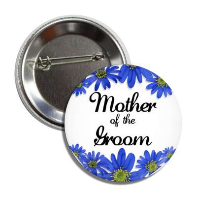 Wedding love marriage bridal party groom buttons blue