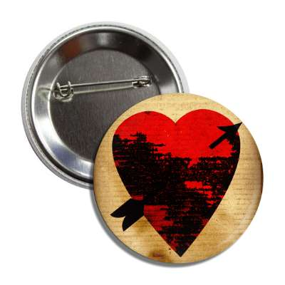 valentines day heart black decay arrow