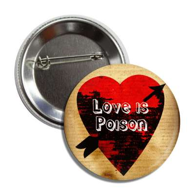 valentines day heart black decay arrow love is poison