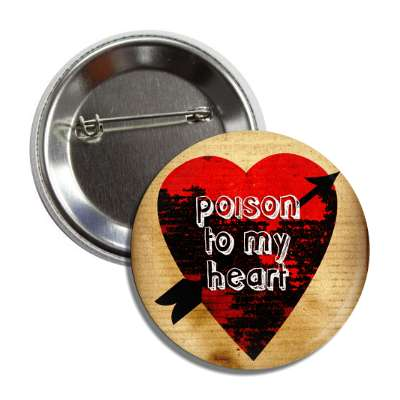 valentines day heart black decay arrow poison