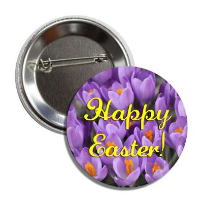 happy easter flowers purple