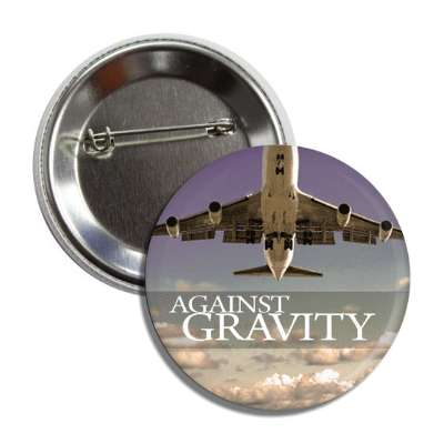 Against gravity airplane pilot flying
