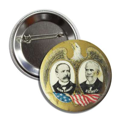 parker davis antique buttons political campaign  presidential vintage president nixon ike kennedy reagan america usa american presidents retro