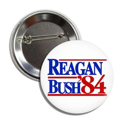 reagan bush 84 1984 antique buttons political campaign  presidential vintage president nixon ike kennedy reagan america usa american presidents retro