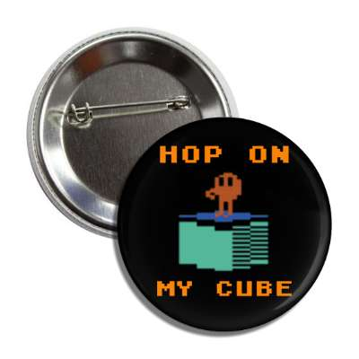 hop on my cube qbert heart 8 bit retro vintage arcade atari 2600 800 midway arcades videogames videogame pac man pacman game games fun 80s 1980