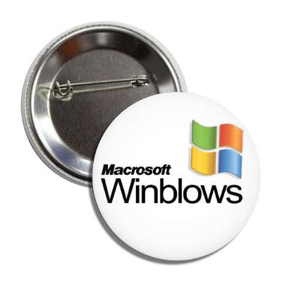 macrosoft winblows microsoft windows parody parodies funny sayings hilarious corporate logo mockery