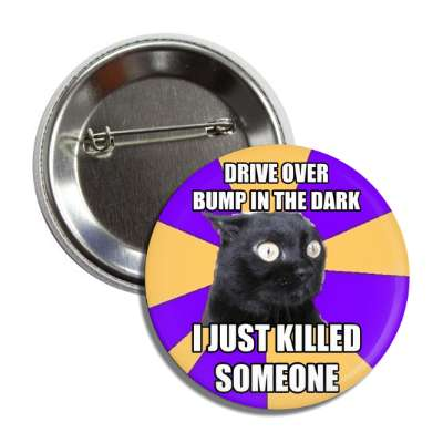 drive over bump in the dark i just killed someone anxiety cat advice animals internet meme memes funny sayings popular pop reddit 4chan icanhazcheezburger