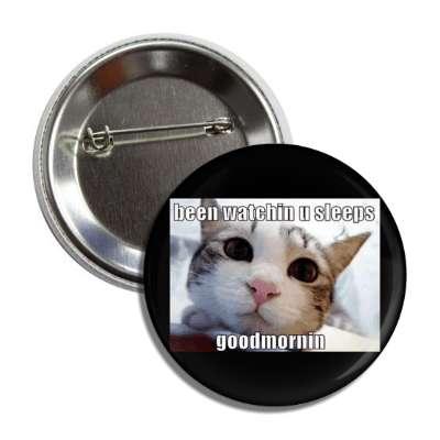 been watching u sleeps good mornin lolcats kitteh kitties kittens cat cats internet meme memes funny sayings popular pop reddit 4chan