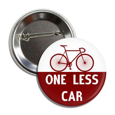 one less car cycling bicyclist sports fun recreational activities