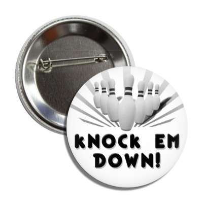 knock em down bowling pins team sports recreation funny sayings