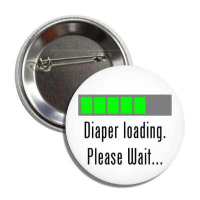 diaper loading please wait funny toilet humor poo pee fart poop crap dump butt joke restroom porcelain throne naughty weird gross novelty