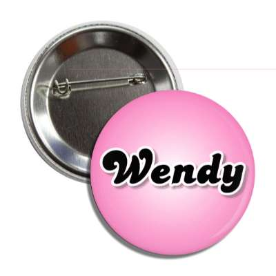 wendy common names female custom name button