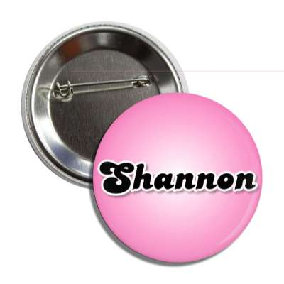 shannon common names female custom name button