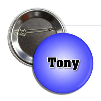 tony common names male custom name button