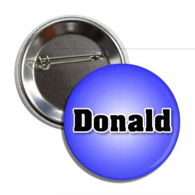 donald common names male custom name button