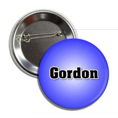 gordon common names male custom name button