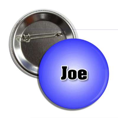 joe common names male custom name button