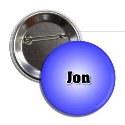 jon common names male custom name button
