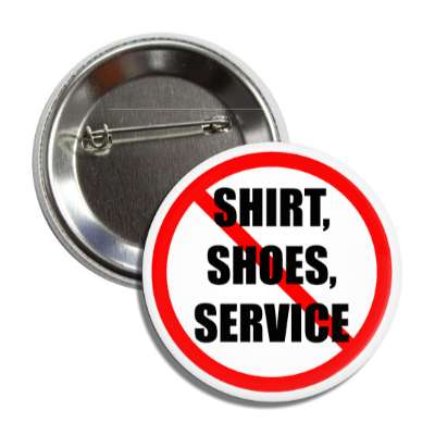 no shirt no shoes no service protest anti red slash