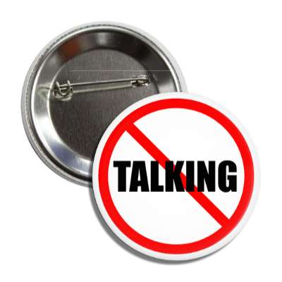 no talking protest anti red slash