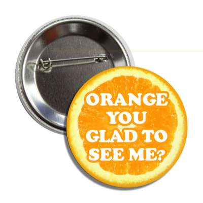 orange you glad to see me funny puns novelty random goofy hilarious