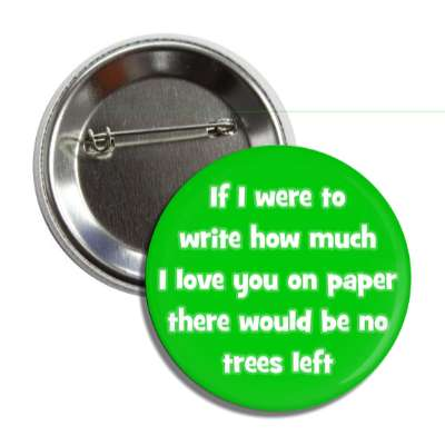 if i were to write how much i love you on paper there would be no trees left pick up lines funny sayings