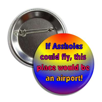 if assholes could fly this place would be an airport funny saying airplane