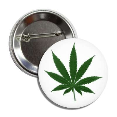 plain weed marijuana button