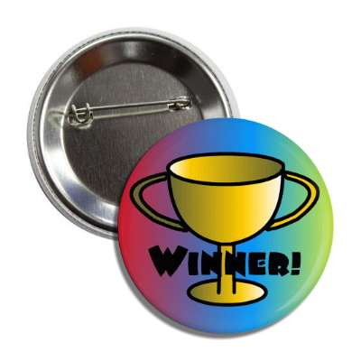 trophy winner multicolor button
