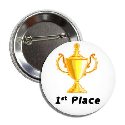 1st place trophy gold button