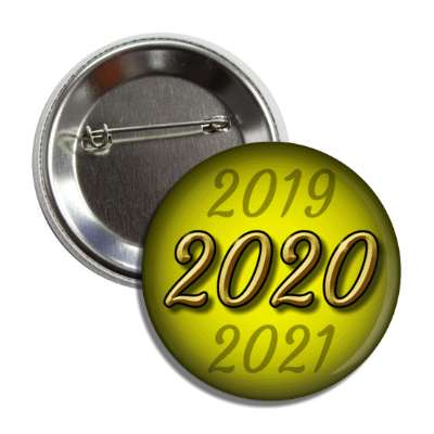 2020 new year yellow button