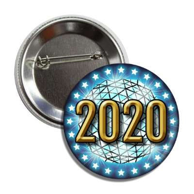 2020 times square new york city ball drop blue button