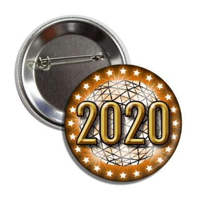 2020 times square new york city ball drop orange button