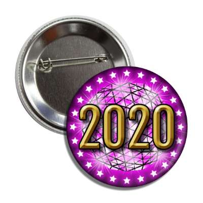 2020 times square new york city ball drop purple button