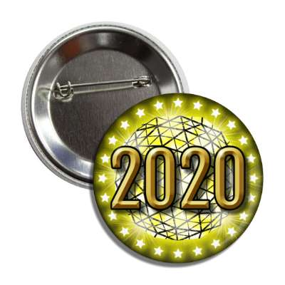 2020 times square new york city ball drop yellow button