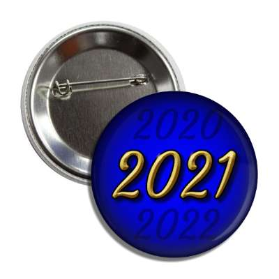 2021 new year blue button