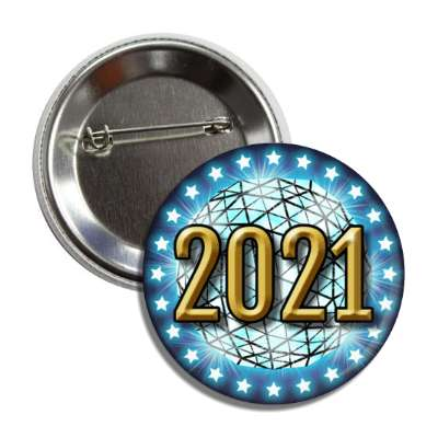 2021 times square new york city ball drop blue button