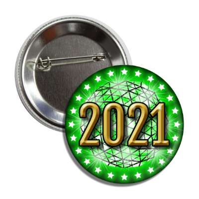 2021 times square new york city ball drop green button