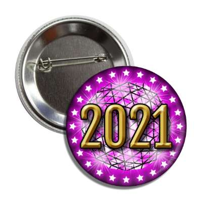 2021 times square new york city ball drop purple button