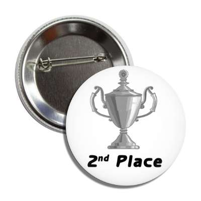 2nd place trophy silver button