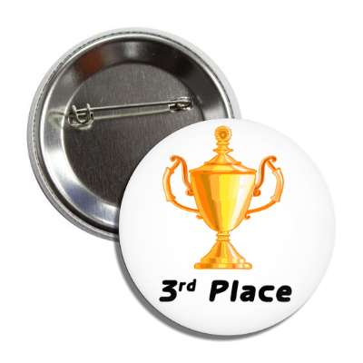 3rd place trophy bronze button