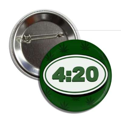420 oval green button