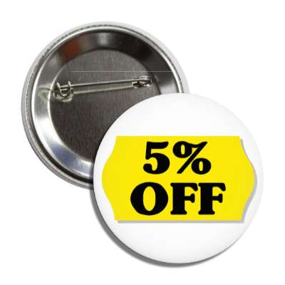 5 percent off pricetag button