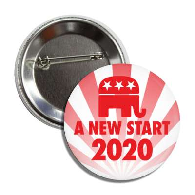 a new start democrat republican red rays button