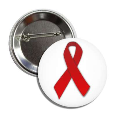 aids red awareness ribbon button